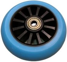 Rask 100mm PU hjul blå