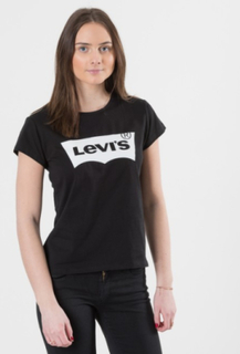 Levis, SS TEE NOS BAT, Svart, T-shirt/Linnen till Tjej, 16 år