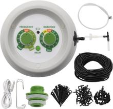 vidaXL Automatiskt droppbevattningssystem med kontroll