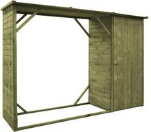 vidaXL Trädgårdsskjul FSC furu 253x80x170 cm