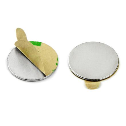 Sterk selvklebende disk magnet Ø 20 mm x 1 mm   Bæreevne 1 kg   Sterkt 3M lim