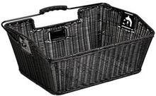 Unix Mateo Rear Wheel Basket finely woven black 2020 Cykelkorgar för pakethållare