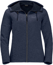 Jack Wolfskin Sky Thermic Hooded Jacket Women Herr Tröja Blå S