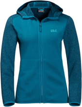 Jack Wolfskin Elk Hooded Jacket Women Dam Tröja Blå XL