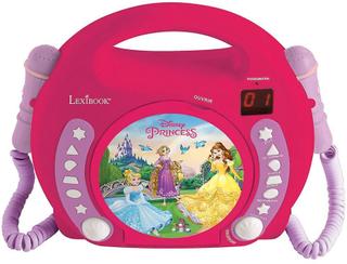 Lexibook RCDK100DP Disney Princess bärbar CD-spelare med mikrofon