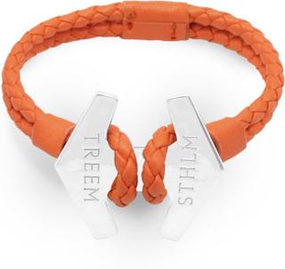 Stark - Braided Orange & Sterling Silver - XS – up to 14,5 cm