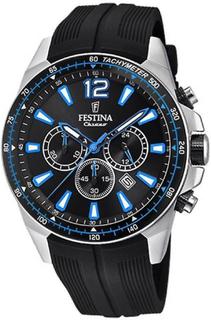 Festina klocka original F20376-2 - klocka kronograf datum svart man