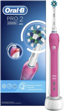 Oral-B Pro 2 2000 CrossAction Pink. 10 stk. på lager