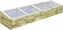vidaXL Växthus FSC impregnerad furu 200x50x35 cm