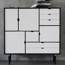 Andersen Furniture S3 Sort Lakkert Eik / Hvit