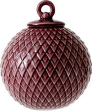 Lyngby Rhombe Kule Bordeaux 7 cm -Tilbud