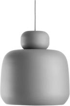 Stone pendant, large grey
