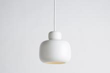 Stone pendant, small white