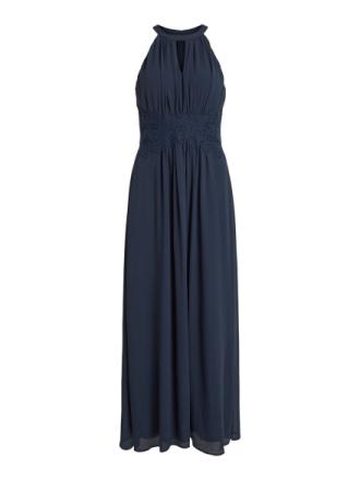 VILA Halter Neck Maxi Dress Women Blue