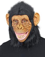 Heltäckande Chimpans Latexmask med Fuskpäls