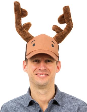 Caps med Reinsdyr Horn
