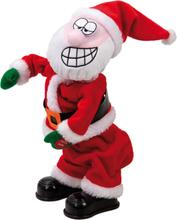 Twerking Santa - Dekorasjon med Lyd og Bevegelse 30 cm