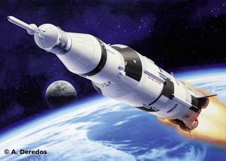Rumskibmodel byggesæt Revell Apollo Saturn V 4909 1:144