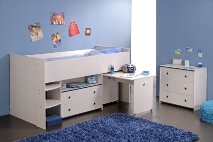 Smoozy halvhøy seng – BLÅ/ROSA valgfritt