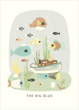 Majvillan Poster 50x70 The big blue