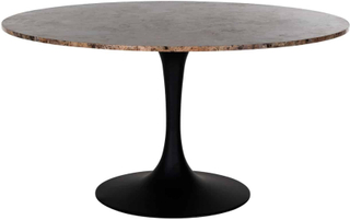 Richmond Dining table Orion D140 with brown marble