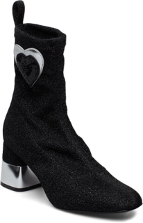 Love Moschino Shoes Shoes Boots Ankle Boots Ankle Boots With Heel Sort Love Moschino