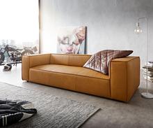 DELIFE Big-sofa Around the Block 260x105 geel echt leder vederkern by W. Schillig