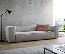 DELIFE Big-sofa Around the Block 260x105 zilvergrijs Federkern by W. Schillig