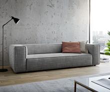 DELIFE Big-sofa Around the Block 260x105 zwart-wit spring core by W. Schillig