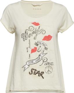 Odd Vibes Tee T-shirt Top Hvid ODD MOLLY