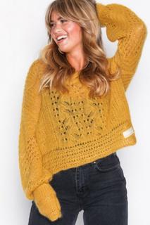 Odd Molly smashing sweater Stickade tröjor Ochre