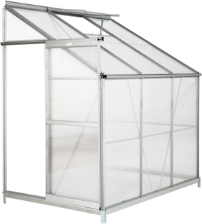 Tectake Väggväxthus Med Fundament Transparent