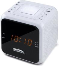 Klockradio Daewoo DCR-450 Vit