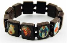 Armband Ikoner trä med ikoner i färg