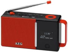Aeg Digital Dab+-radio Dab 4158 Röd Och Svart