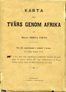 Tvärs genom Afrika. Från Atlantiska till Indiska oceanen genom okända land; upptäckt af den stora Zambesis bifloder o.s.v. Auktoriserad öfversättning från engelskan af C. A. Swahn. Med 11 kartor och 131 träsnitt. I-II. Tillsammans med Karta till Tvärs gen