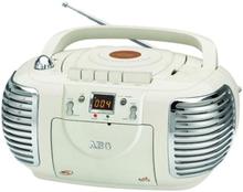 Aeg Radio Med Kassett-/cd-spelare Nsr 4377 Stereo Gräddvit
