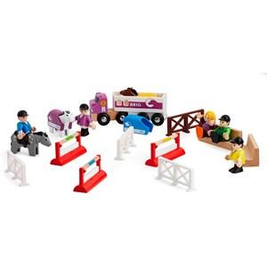 BRIO BRIO® World - 33796 Hästhoppningsset med hästtransport till järnväg 3 - 7 years