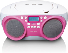 SCD-301PK - Portable FM radio with CD MP3