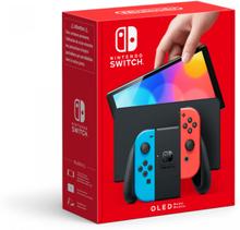 Nintendo Switch Konsoll OLED - Neon Rød & Blå