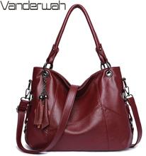 Soft Leather Tassel Luxury Handbags Women Bags Designer Handbags High Quality Ladies Crossbody Hand Tote Bags For Women 2019