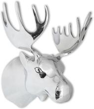 vidaXL Elghode Veggdekorasjon Aluminium Sølv