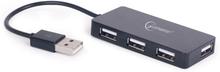 Gembird 4-port USB-hubb 2.0 - Svart
