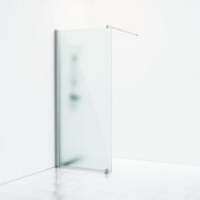 Svedbergs Skoga duschvägg 80 cm, frostat glas/blank aluminium