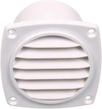 Ventilasjonsgitter med aksel hvit 94x94 mm