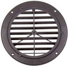 Ventilasjonsgitter, svart, 164 mm, rund