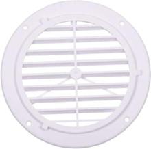 Ventilasjonsgitter, hvit, 164 mm, rund