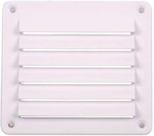 Ventilasjonsgitter, hvit, 142x127 mm, kvadratisk