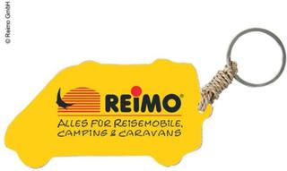 NØKKELRING BOBIL MED REIMO-LOGO, CA. 5 CM