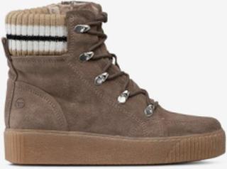 Støvler med strikket skaft